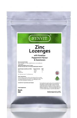 Zinc Lozenges - with Rosehips - Peppermint SYNVIT®